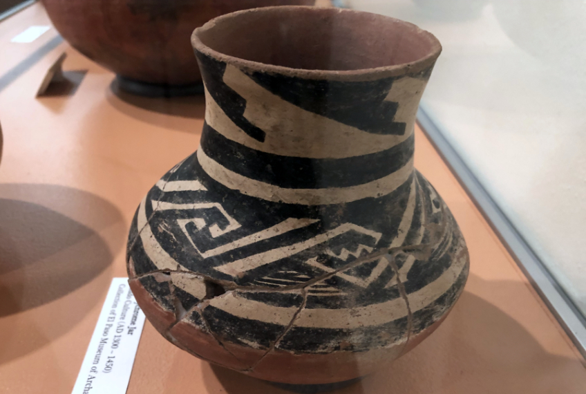 An example of ancient southwest coiled pottery
