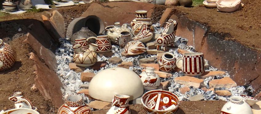 Anasazi trench kiln firing