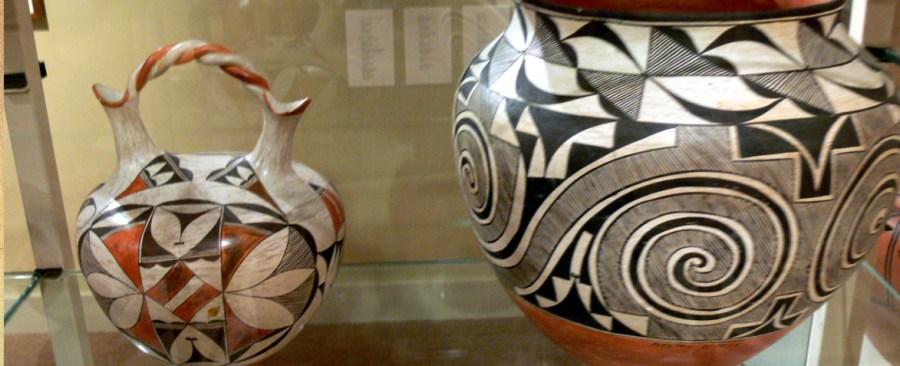 Examples of Acoma Pueblo pottery