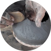 coil pottery manufacture