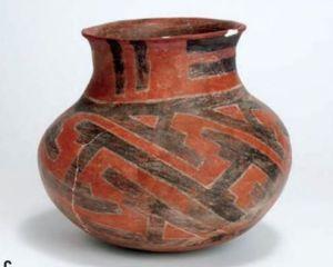 Tucson Polychrome jar from Davis Ranch Ruin