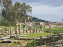 A view of the temple of Artemis at Brauron