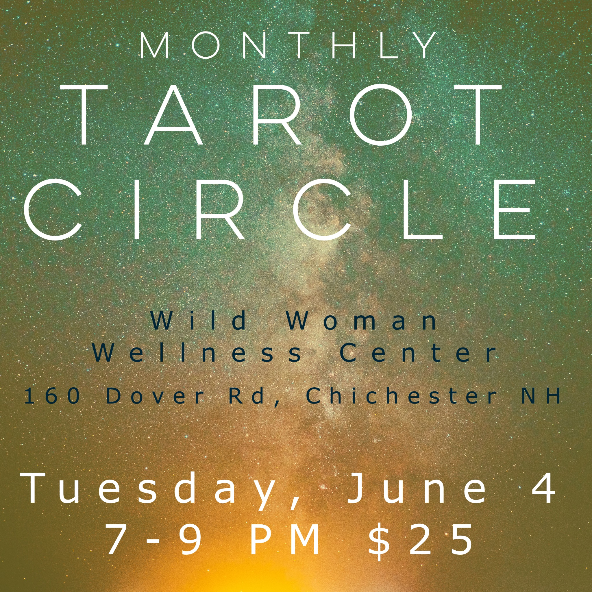 Our Monthly Tarot Circle is on June 4 at Wild Woman Wellness Center