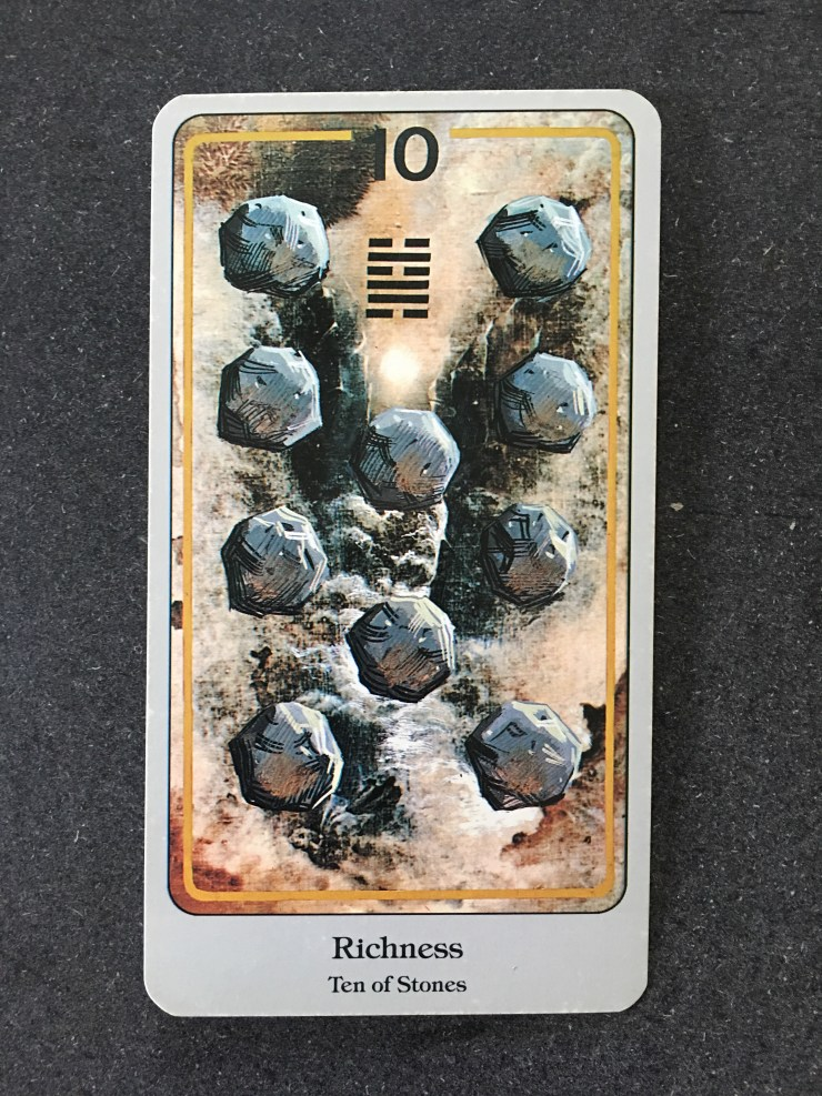 Ten of Stones - The Haindl Tarot