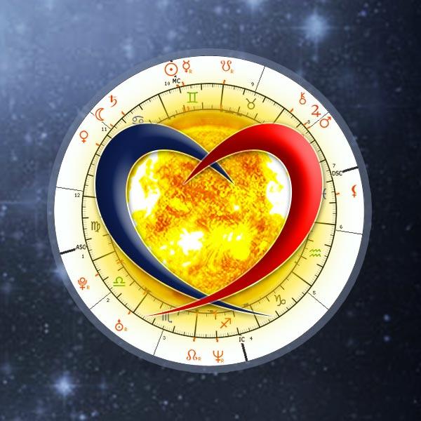 Tema di coppia astrologico