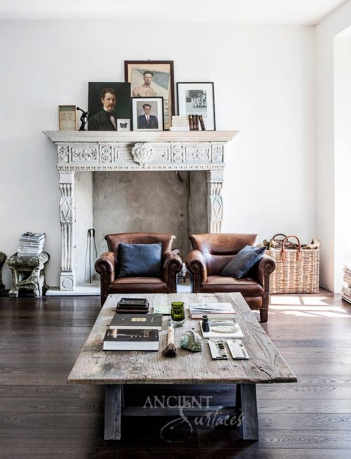 79ideas_gorgeous_old_coffee_table_leather_chairs