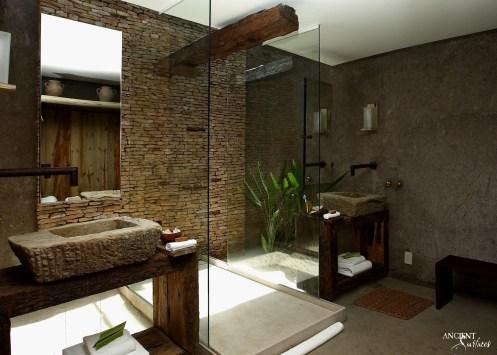 antique limestone indoor carved sink