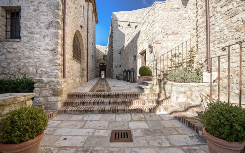 Castello di Procopio Antique Stone Walkway