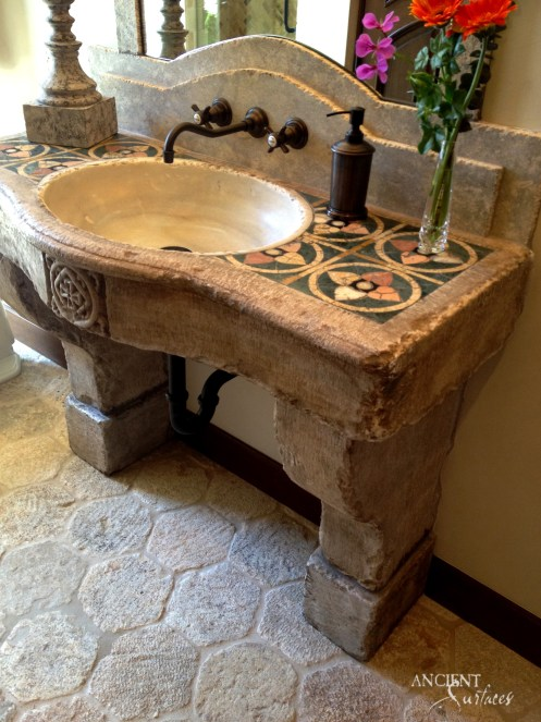 powder-room-with-antique-reclaimed-limestone-sink