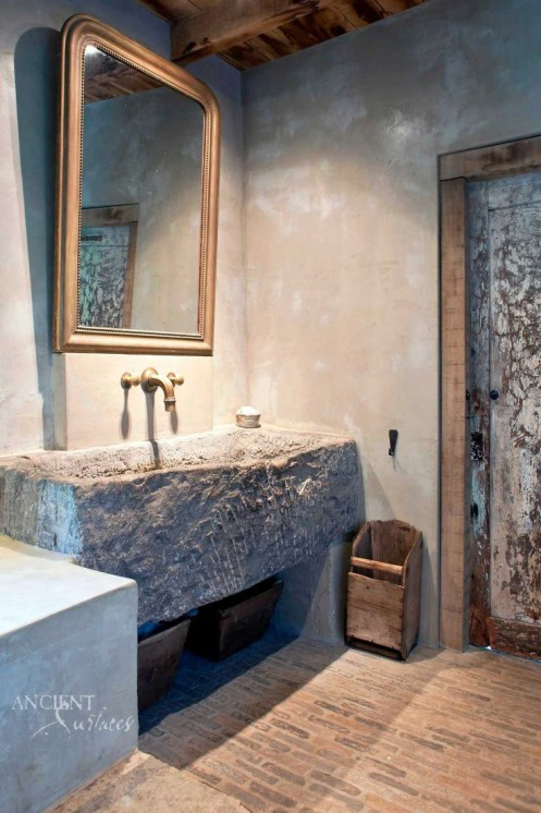 French Farmhouse Countryside Trough Sink by Ancient Surfaces-2