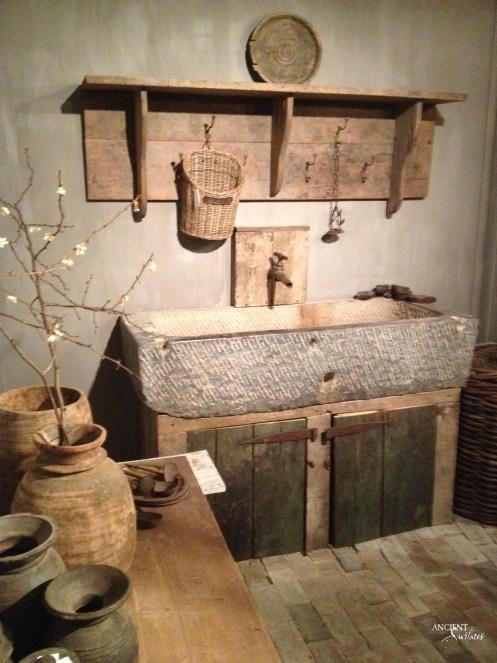 Old-world-limestone-sinks-trough-bathroom-powder-room