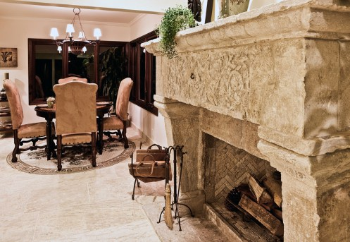 Antique Limestone Living Room by Ancient Surfaces
