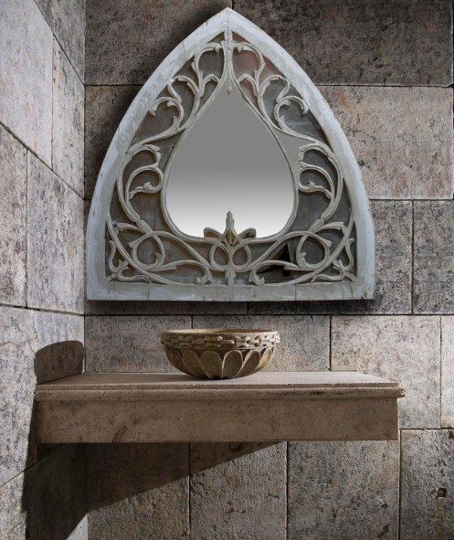 Bathroom Mirror and Sink by Ancient Surfaces