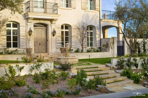 beautiful-villa-with-outdoor-limestone-pool-fountain