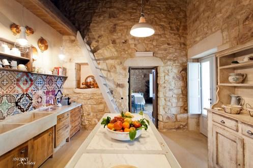 kitchen-provence-style-limestone-basin-wooden-countertop