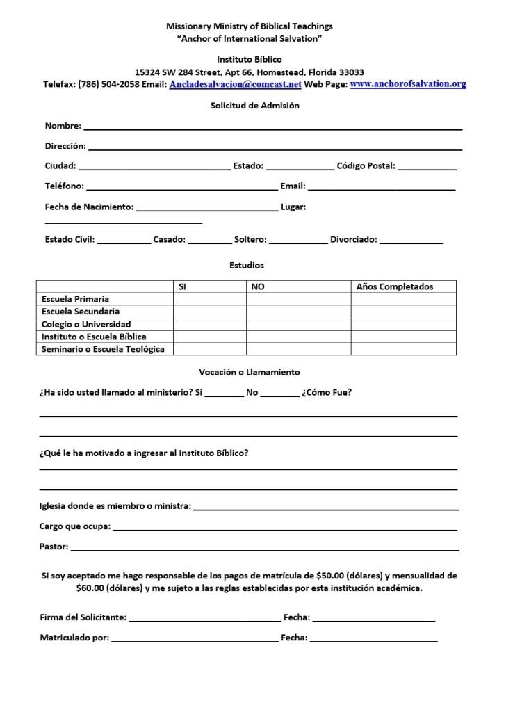 IBASI Formulario de Registro