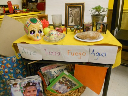 A traditional ofrenda honoring Frida Kahlo and Diego Rivera