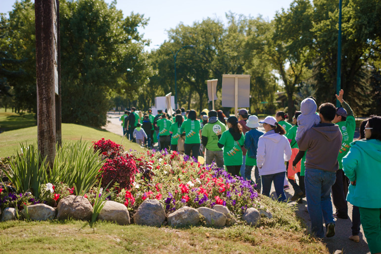 A great day for an ANCOP Walk in Lethbridge