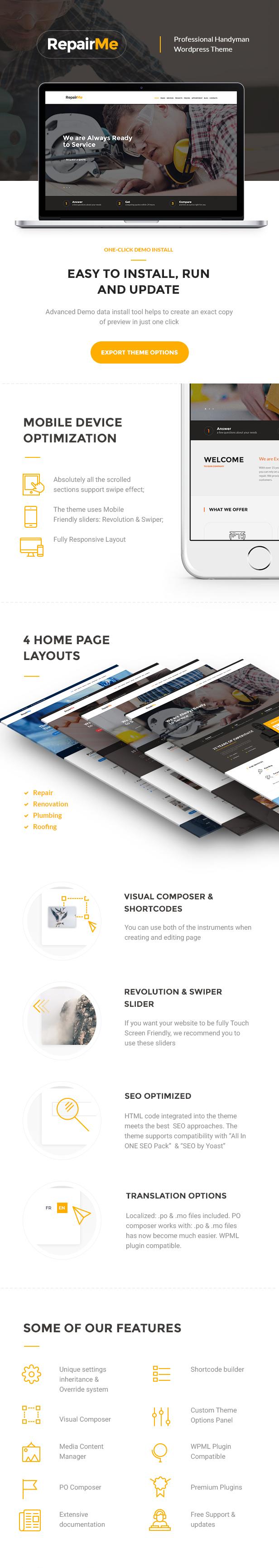 RepairMe - A Vibrant Construction & Renovation WordPress Theme - 2
