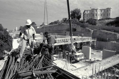 chantier de la Rocade L2 à Bois-Luzy ( 12 è art.) - © J. Windenberger - 11/09/1996