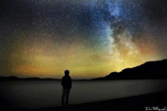 頭上に広がる満天の星