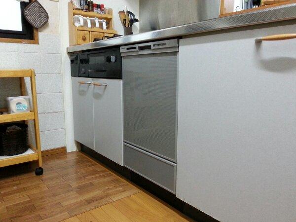 ビルトイン食器洗い乾燥機の取り替えは、あっという間です(福島町)