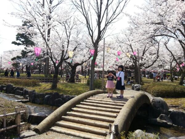 芦城公園で花見をして、サイエンスヒルズこまつに行きました