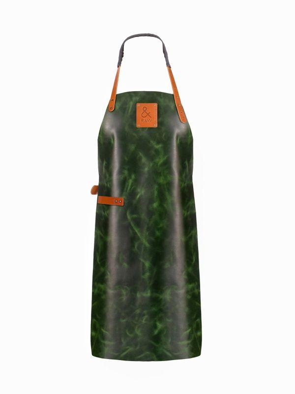 zielony fartuch grillowy