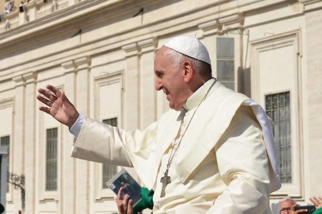 Na foto, o Papa Francisco