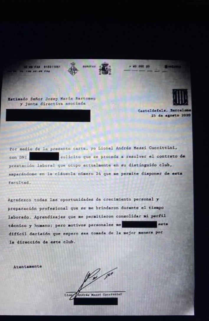 فاكس يطالب محامون ميسي الرحيل للاعب من نادي برشلونة