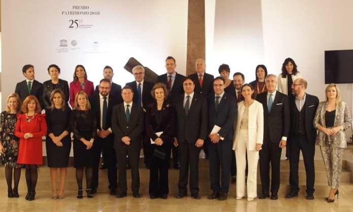 la Reina Doña Sofía recibe el Premio Patrimonio 2018