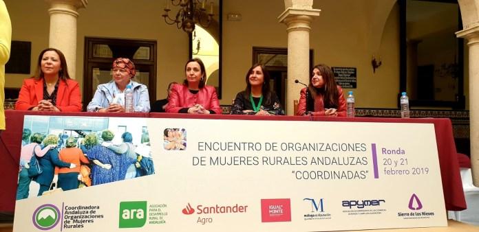 Ana María Corredera en el Encuentro de Organizaciones de Mujeres Rurales de Ronda