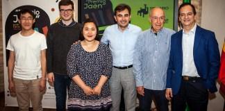 Rueda de prensa-finalistas61º Premio Jaén de Piano