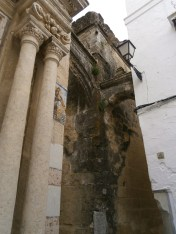 Columns and flying buttress