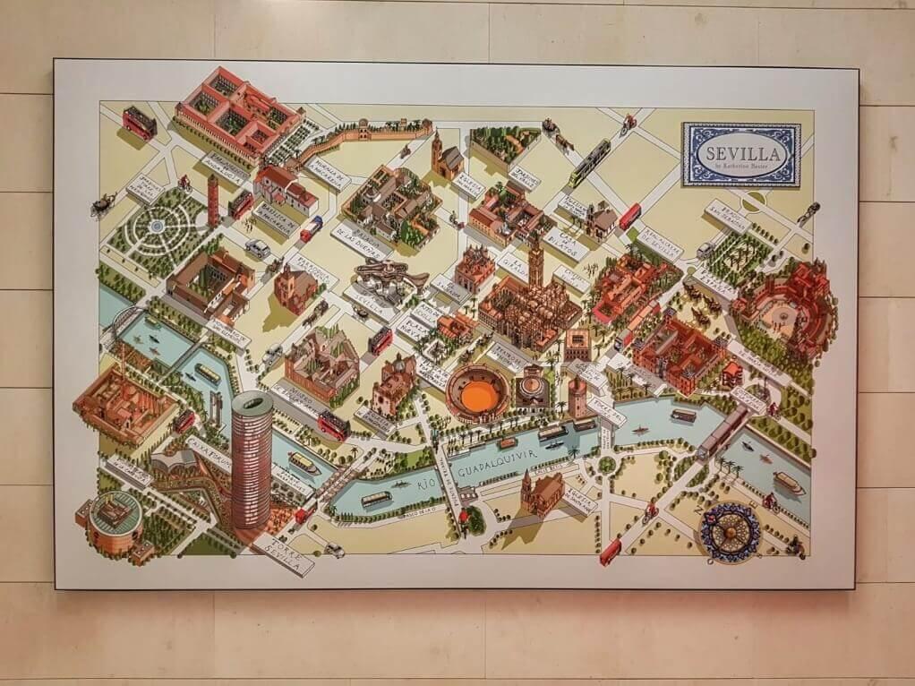 Siviglia Cartina.Tour Di Siviglia Itinerario Per Visitare I Monumenti Andalusia Viaggio Italiano