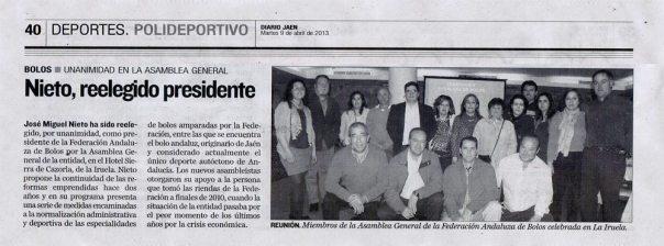 Recorte-Diario-Jaén-Federación-de-Bolos-José-Miguel-Nieto