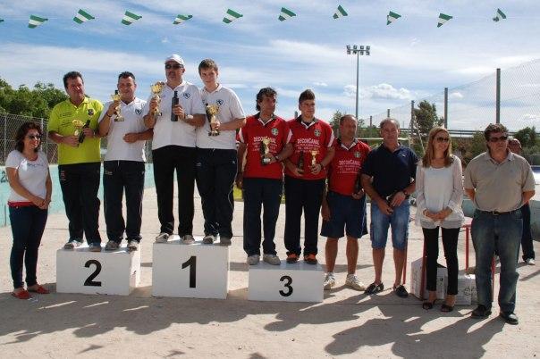 49-podium-primera-masculina-Campeonato-España-de-Bolo-Andaluz-parejas-Vila-real-2013
