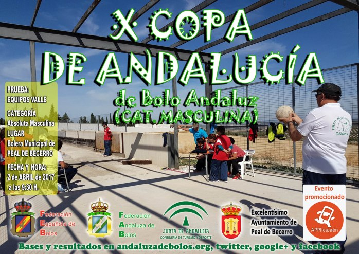 cartel copa andalucia bolo andaluz masculina 2017 red