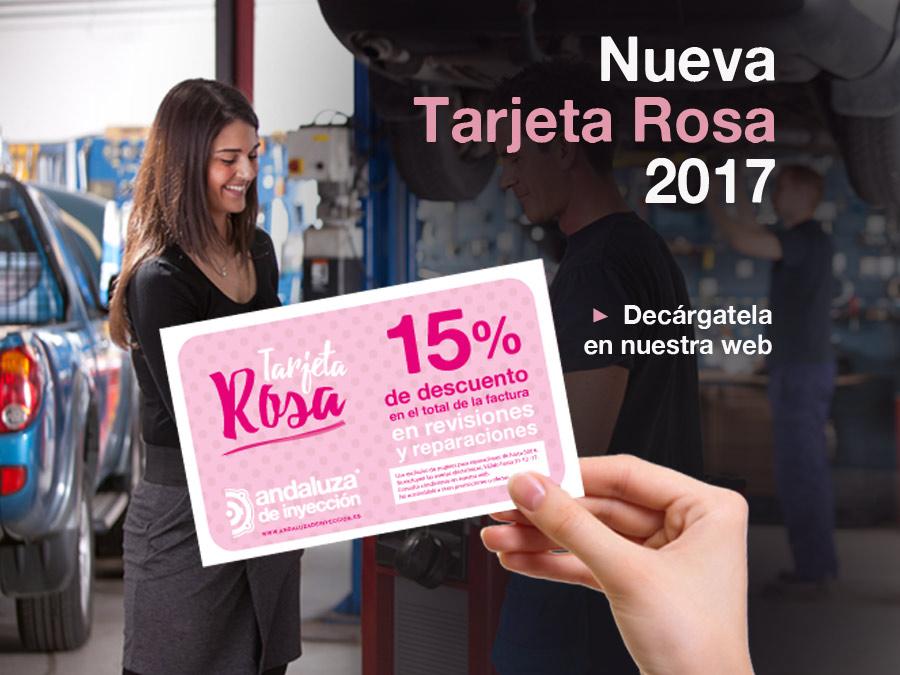 Tarjeta Rosa  de la mujer 2017 *PROMOCIÓN FINALIZADA