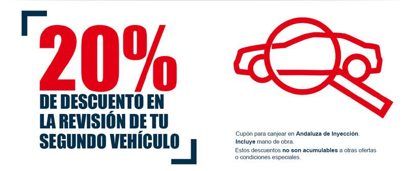 20% de descuento en la revisión de tu segundo vehículo *PROMOCIÓN FINALIZADA