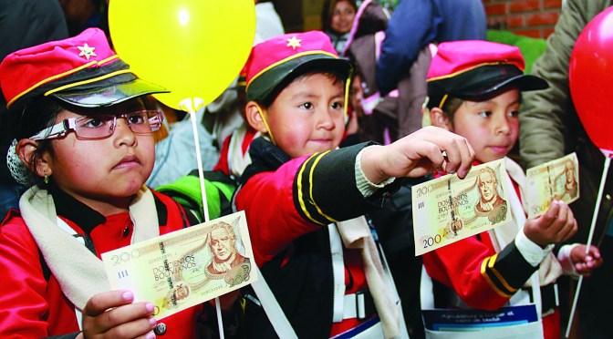 Mañana inicia el pago del Bono Juancito Pinto en las entidades financieras