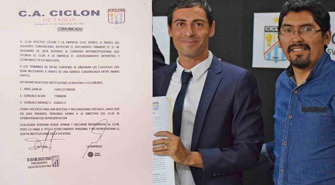 Élite Sports continuará gerenciando al Club Atlético Ciclón