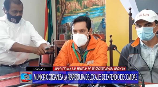 Alcaldía anuncia reapertura de restaurantes y controla medidas de bioseguridad