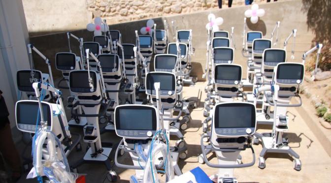 Gobernación completa lote de 33 respiradores que reforzarán sala de terapia intensiva del HRSJD