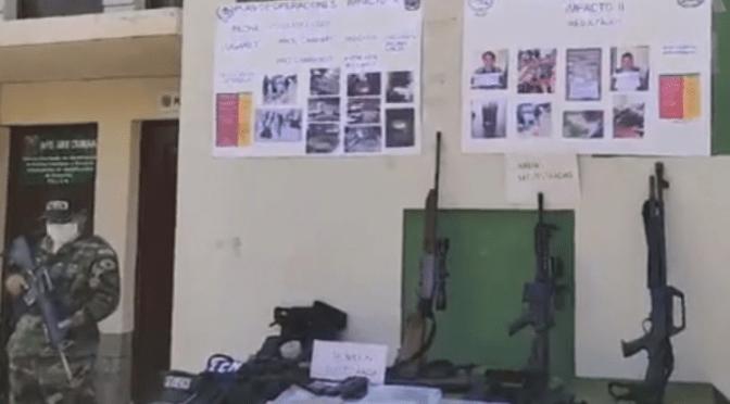 FELCN halla armamento, municiones y uniformes camuflados en viviendas en el Chapare