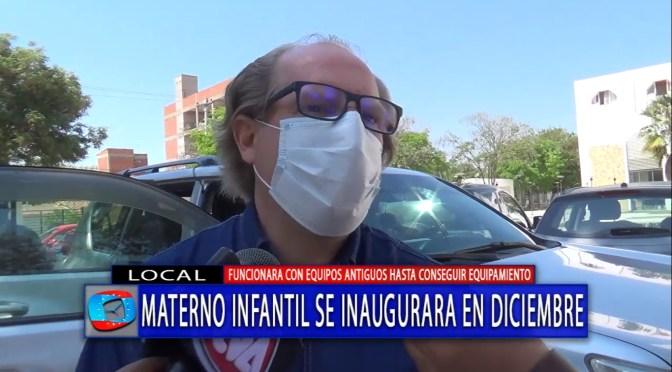 Oliva anuncia que hasta diciembre se concluirá con la obra del Materno Infantil