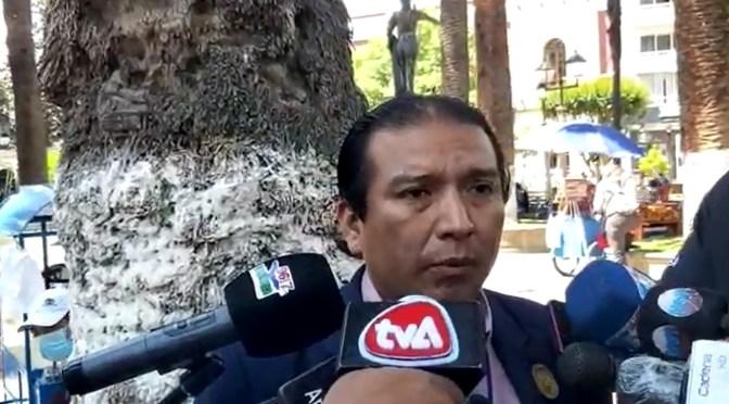 Valasco pide rechazar observaciones y promulgar Ley Electoral Departamental