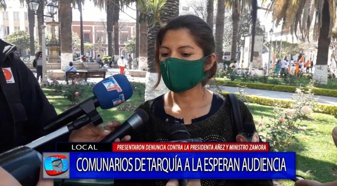 Comunarios de Tariquía esperan audiencia contra Añez y Zamora por el derecho a la consulta previa