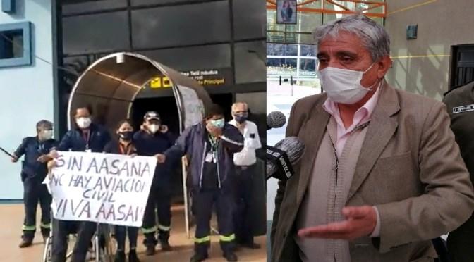 Arias acusa de intransigencia paro en tres aeropuertos