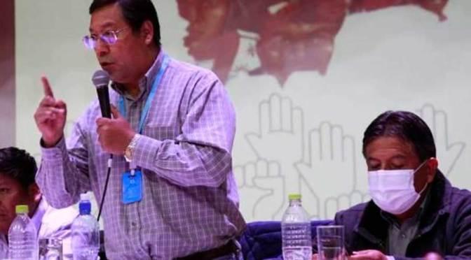 """Arce y Choquehuanca hablan de reducir ministerios porque """"no hay plata"""""""